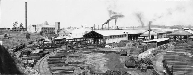 View of the northern end of the Ipswich Railway Workshops c.1920