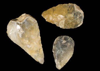 Photo of stone hand axes