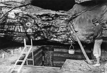Kenniff Cave on display